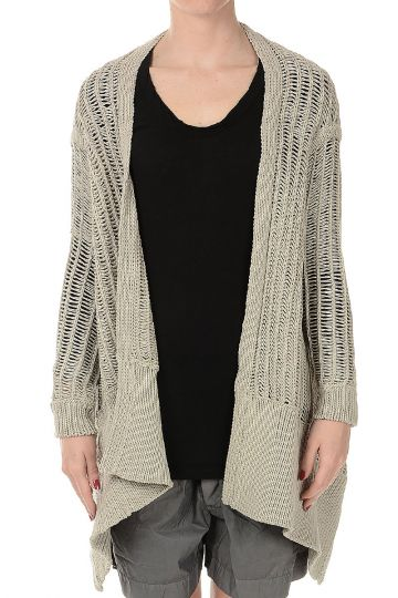 Cardigan SHORT WRAP NAUTICAL in Misto Cotone PEARL