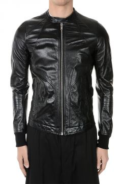 Leather INTARSIA Jacket