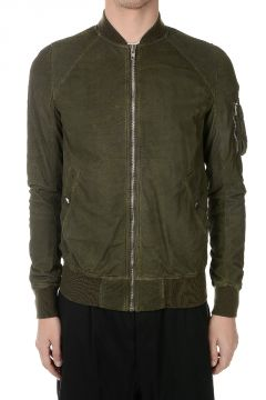 Leather RAGLAN BOMBER Jacket PALM