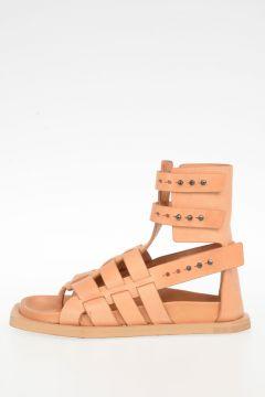 Sandalo FLAT GLADIATOR in Pelle SQUASH