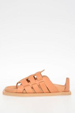 Leather FLAT Sandals SQUASH