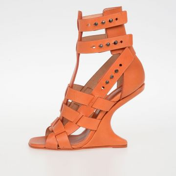 Sandali CYCLOPS CANTILEVERED in Pelle PAPAYA 11 cm