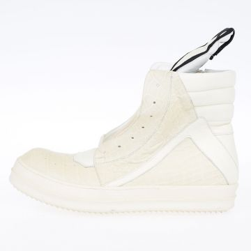 Sneakers GEOBASKET GATOR in Pelle di Alligatore BONE/MILK/WB