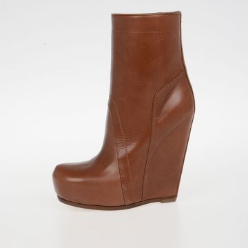 Leather PULL ON BOOTS 12CMS HENNA