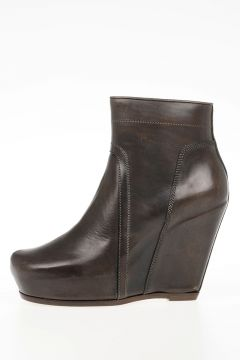 Stivale CLASSIC ZIP WEDGE In Pelle DARKDUST