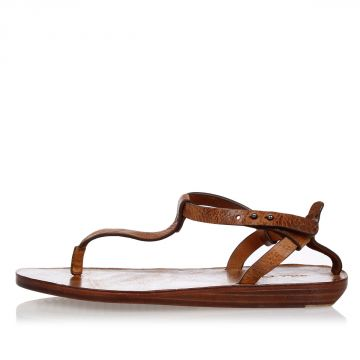 Leather T STRAP Sandals