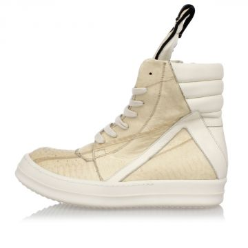 GEOBASKET SNEAKERS in Pelle