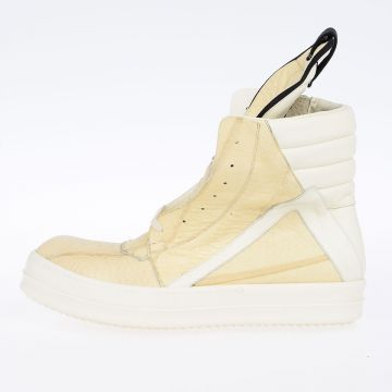 Sneakers GEOBASKET SNAKE in Pelle di Serpente MILK/WB