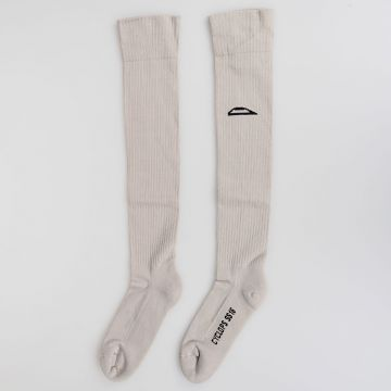 Cotton JACK SEASON & EYE Knee High Socks PEARL/BLACK