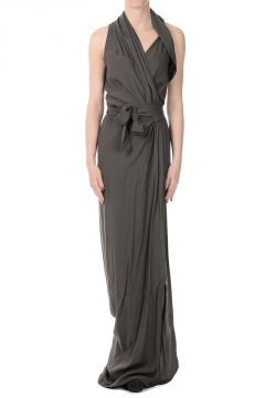 Viscose Blend LIMO WRAP Long Dress