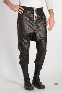 Pantaloni DRAWSTRING CROPPED in Pelle di Serpente