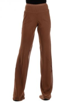 Pantalone BIAS PANTS in seta henna