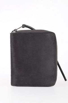 Leather ZIPPED WALLET SMALL in DARK DUST