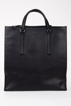 Leather EDITH VERTICAL SHOPPER Bag