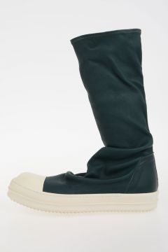 Sneakers SOCK SNEAKS in Pelle TEAL/WB