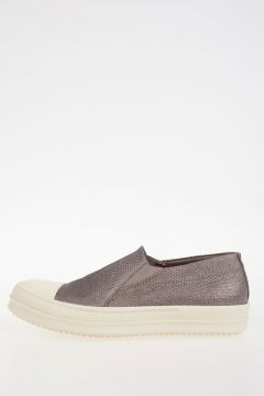Leather BOAT SNEAKS LIZARD Sneakers NICKEL/WB
