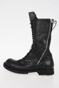 Leather DB ZIP LACE UP BOOT ARMY SOLE