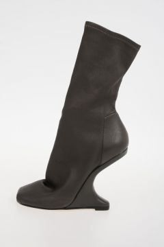 Leather CANTILEVERED STRETCH BOOT DARKDST