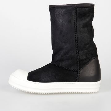 Leather SHEARLING BOOT CREEPER HEIGHT Ankle Boots