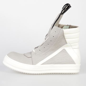 Leather GEOBASKET Sneakers PEARL