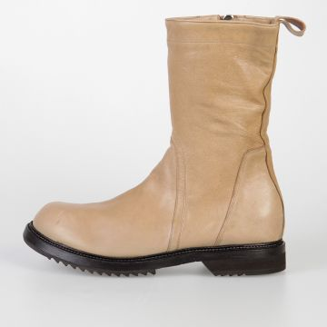 Leather CREEPER ARMY SOLE Boots CAMEL