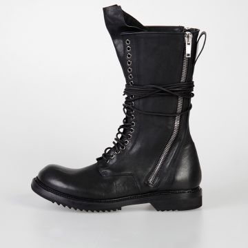 Leather DB ZIP LACE UP BOOT ARMY SOLE Boots