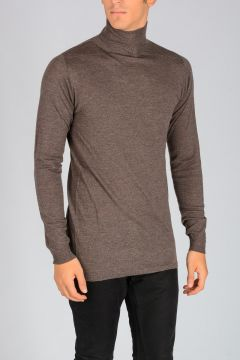 Virgin Wool TURTLE NECK Sweater DNA DUST