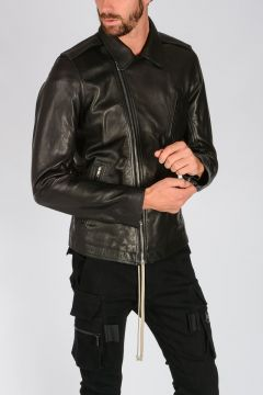 Leather STOOGES Biker Jacket