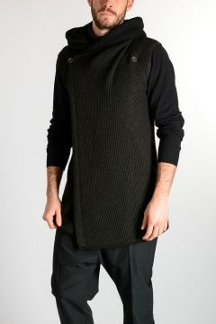 Cardigan SL HOODED in Misto Cashmere DARK DUST