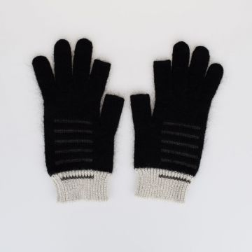 Mohair Blend knitted gloves
