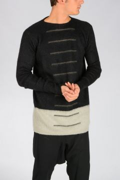 Mohair Blend OVERSIZED ROUND NECK Sweater