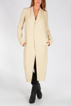 Virgin Wool & Linen TUSK Coat VANILLA