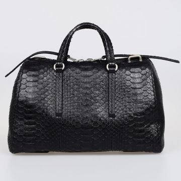 Snake Leather Bowler Bag