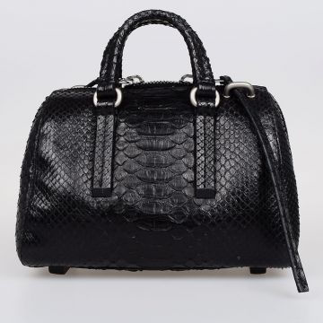 Python Leather Mini Bowler Bag