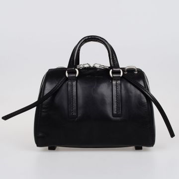 Leather Mini Bowler Bag