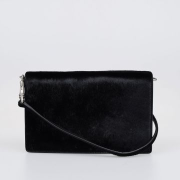 Pony Skin Leather Shoulder Bag