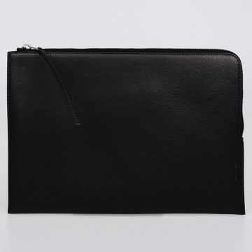 Leather LARGE ZIPPED POUCH Laptop Sleeve