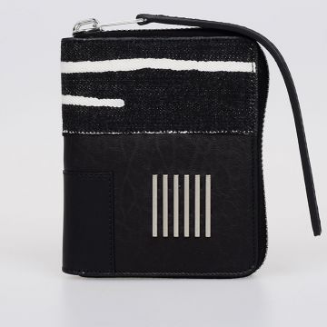 Portafoglio EMBROIDERY ZIPPED WALLET SMALL in Pelle