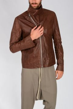 Leather MOUNTAIN Jacket MACASSAR
