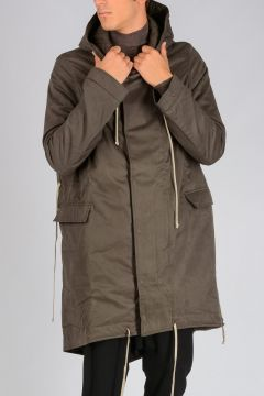 DRKSHDW Parka FISHTAIL Imbottito DARK DUST