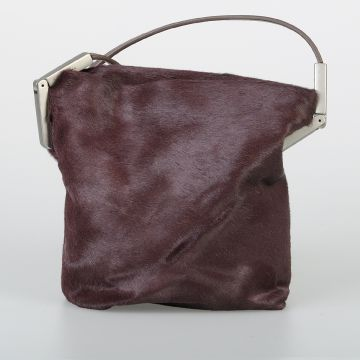 Ponyskin SMALL ADRI Shoulder Bag MACASSAR