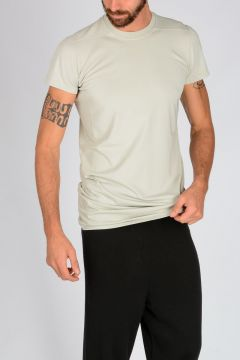DRKSHDW LEVEL ROUND NECK SS TEE T-shirt in DINGE