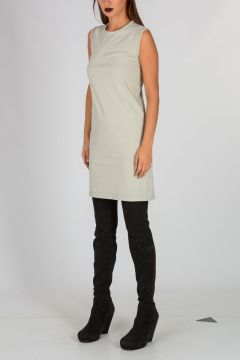 Sleeveless COLUMN TUNIC Round Neck Top