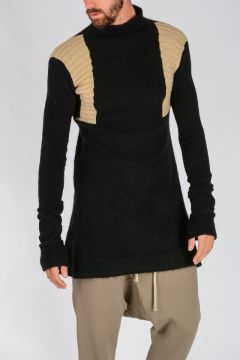 SWEATER LONG Sweater in BLACK/VANILLA