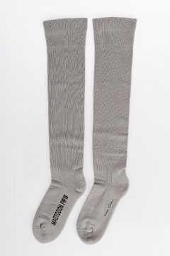 Cotton Knee High Socks MASTADON PEARL/BLK