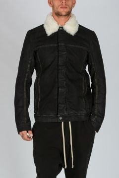 DRKSHDW Cotton Real Fur WORKER Jacket