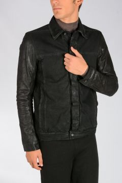 DRKSHDW Cotton Denim WORKER Jacket BLACK MATTE