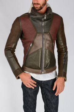 Shearling COMBO BIKER Jacket