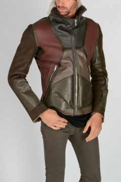 Leather COMBO BIKER Jacket