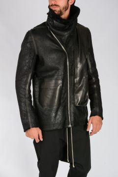 Giacca BLADDER BIKER in Shearling